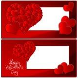 ` S del biglietto di S. Valentino della raccolta del cuore Immagini Stock