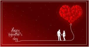 ` S del biglietto di S. Valentino della raccolta della carta del cuore Fotografia Stock Libera da Diritti