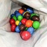 ` S del cioccolato del ` s di M&M in colori differenti fotografie stock libere da diritti