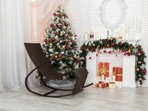 ` S del nuovo anno e Natale interno fotografia stock libera da diritti