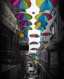 ` S del paraguas del arco iris imágenes de archivo libres de regalías