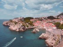 ` S del rey que aterriza Lovrijenac en Dubrovnik imagen de archivo