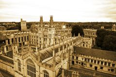 `S dell'Università di Oxford tutto l'istituto universitario del `s di anima Fotografie Stock
