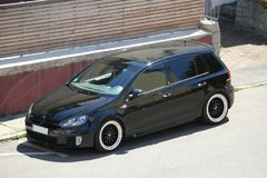 ` S della foto di Volkswagen Golf 5 e di Volkswagen Golf 6 GTI Immagine Stock Libera da Diritti