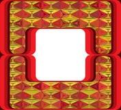 60s denominou o quadro com ornamento do diamante Imagens de Stock