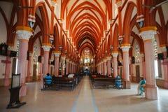 ` S der Heiligen Maria der katholischen Innenarchitektur Kathedralen-Kirche in Madurai Stockfoto