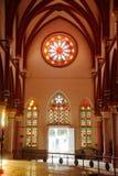 ` S der Heiligen Maria der katholischen Innenfreskoarchitektur Kathedralenkirche in Madurai Stockbild