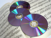 `S di DVD fotografie stock