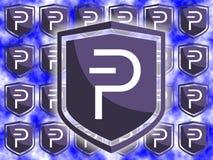 ` S di logo della moneta di Pivx Fotografia Stock Libera da Diritti