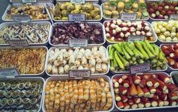 ` S di Naschmarkt Vienna la maggior parte del mercato popolare Fotografie Stock Libere da Diritti