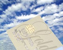 That´s die Kreditkarte!! lizenzfreies stockfoto