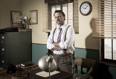 1950s director standing in the office Stock Photography