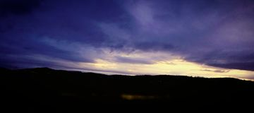 S?dlicher Oregon-Sonnenuntergang stockbild
