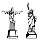` S do mundo a maioria de atração turística popular ilustração stock