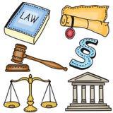 sądowa ikony ilustracja Obraz Stock