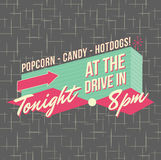 1950s Drive-In Style Logo Design. All fonts shown are for visual purposes only and freely availalble for open license use from sources such as google fonts vector illustration