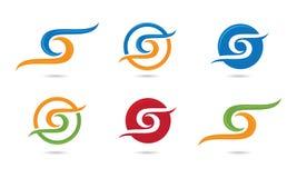 S dynamiczny Falowy logo Zdjęcia Royalty Free