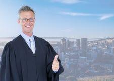 Sędzia przed miastem Zdjęcia Stock