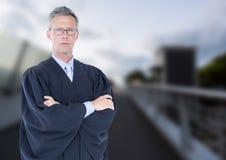 Sędzia przed mostem Zdjęcie Stock