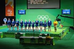Sędziowie Weightlifting rywalizacje Fotografia Stock