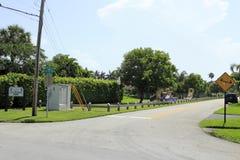 S.E. 第15个街道公园, Deerfield海滩, FL 免版税库存图片