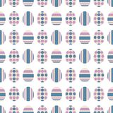 S eamless pattern with Easter eggs. Ordered ornament. Vector illustration stock illustration