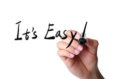 It s easy hand marker Stock Images