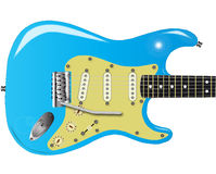 50's Electric Guitar. A traditional solid body electric guitar from the 1950's Stock Illustration