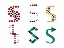 S embleemsymbolen Stock Foto