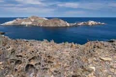 S'Encalladora-Insel. Cap de Creus. Sapin. Lizenzfreies Stockfoto