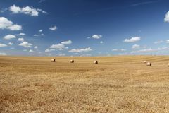 That`s the end of the summer ... / Harvested wheat field Stock Photography