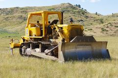 60's era bulldozer. Old bulldozer from the late 60's. Still going strong Royalty Free Stock Photography