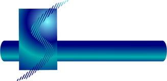 S está para el diseño de la insignia Imagen de archivo libre de regalías