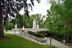 S Etapas do bulevar do Capitólio ao cinturão verde Boise Idaho foto de stock