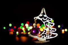 ` S Eve Нового Года гирлянды электрическое стоковое изображение rf