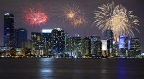 ` S Eve Нового Года в Майами стоковое изображение