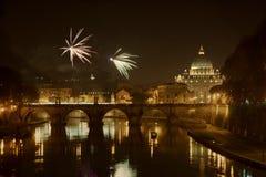 ` S Eve, Ciudad del Vaticano del Año Nuevo Foto de archivo libre de regalías