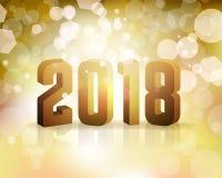 ` S Eve Concept Illustration do ano 2018 novo Fotos de Stock