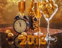 ` S Eve del Año Nuevo 2018 Imagen de archivo libre de regalías