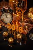 ` S Eve del Año Nuevo 2018 Imagenes de archivo