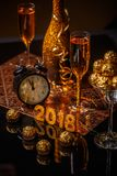 ` S Eve del Año Nuevo 2018 Imagen de archivo