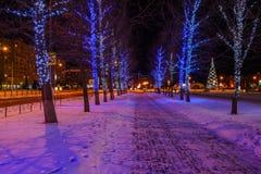 ` S Eve del Año Nuevo de la ciudad de la tarde Fotografía de archivo libre de regalías
