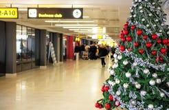 ` S Eve del Año Nuevo en el aeropuerto fotografía de archivo