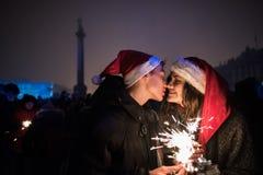 ` S Eve del Año Nuevo en el centro de ciudad en el cuadrado del palacio Fotos de archivo