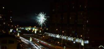 ` S Eve del Año Nuevo en Praga Foto de archivo