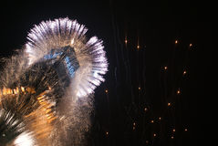 ` S Eve Fireworks del nuovo anno Immagini Stock Libere da Diritti