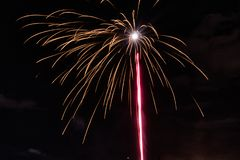 ` S Eve Fireworks do ano novo imagem de stock royalty free