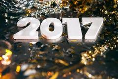 ` S Eve Grunge Background del Año Nuevo 2017 Imagen de archivo
