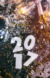 ` S Eve Grunge Background del Año Nuevo 2017 Foto de archivo libre de regalías