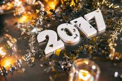 ` S Eve Grunge Background del Año Nuevo 2017 Fotografía de archivo libre de regalías